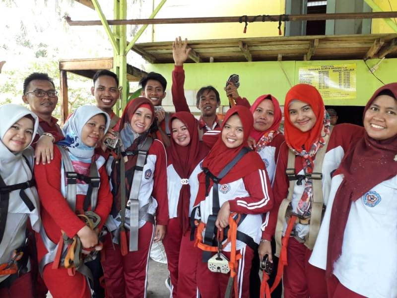 Foto Bersama Persiapan Flying Fox